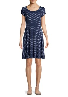 MICHAEL Michael Kors Polka Dot A-Line Dress