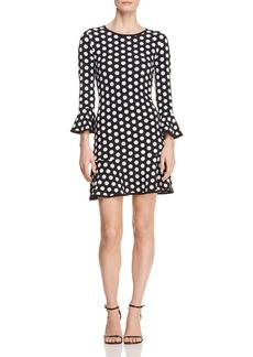 MICHAEL Michael Kors Polka-Dot Flounce Dress
