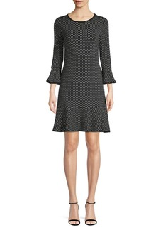 MICHAEL Michael Kors Polka Dot Mini Shift Dress