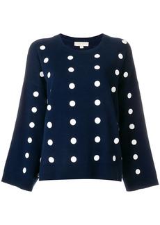 Michael Michael Kors polka-dot oversized pullover - Blue
