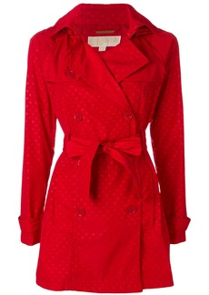 Michael Michael Kors polka-dot short trench coat - Red