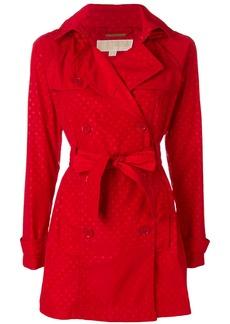 Michael Michael Kors polka-dot short trench coat - Red