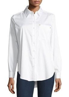 MICHAEL Michael Kors Poplin Button-Front Shirt