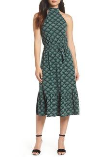 MICHAEL Michael Kors Print Halter Midi Dress