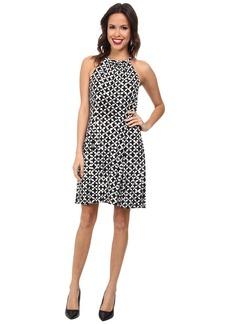 MICHAEL Michael Kors Print Matte Jersey Halter Dress