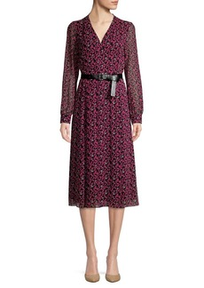MICHAEL Michael Kors Printed Belted Shirtdress