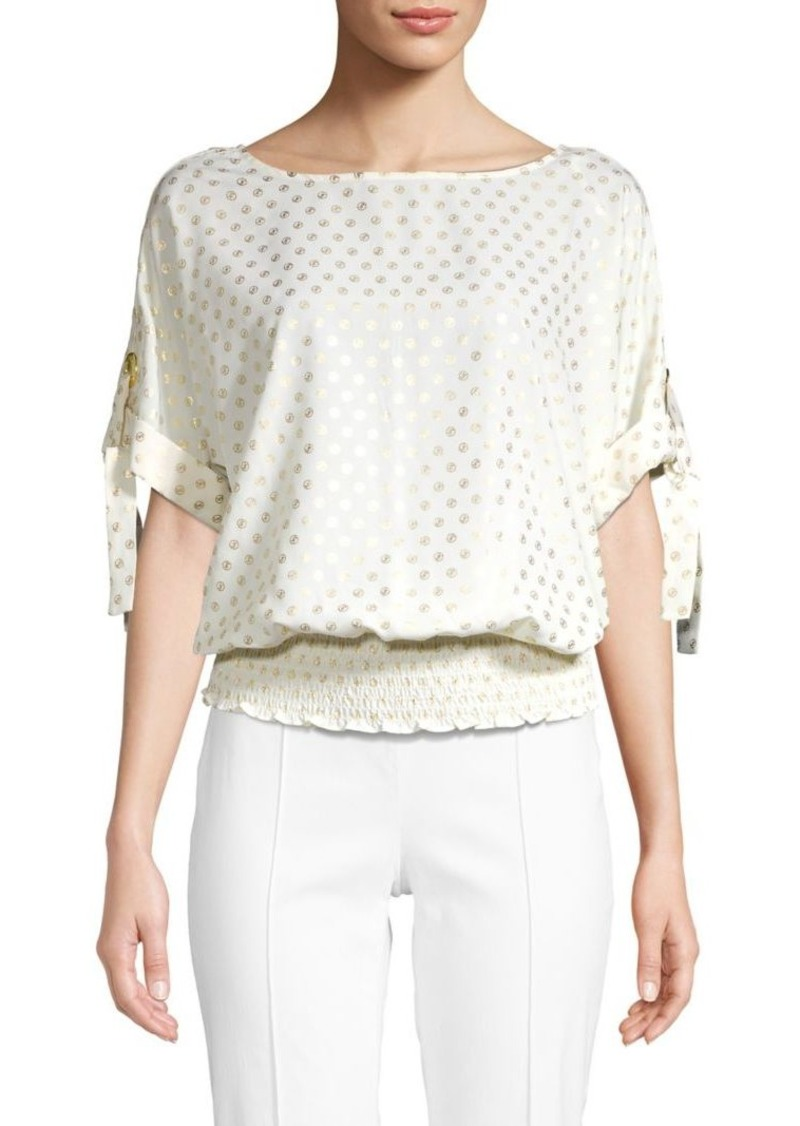 MICHAEL Michael Kors Printed Boatneck Top