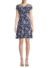 MICHAEL Michael Kors Printed Fit-and-Flare Dress
