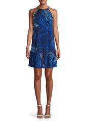 MICHAEL Michael Kors Printed Halter Shift Dress
