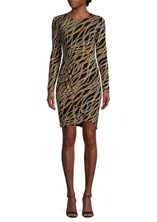 MICHAEL Michael Kors Printed Mini Faux Wrap Dress