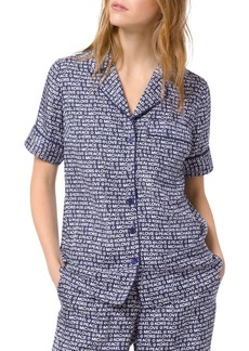 MICHAEL Michael Kors Printed Piped Pajama Shirt