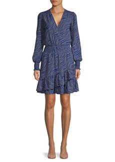 MICHAEL Michael Kors Printed Ruffle Mini Dress