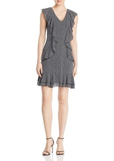 MICHAEL Michael Kors Printed Ruffle Mini Dress
