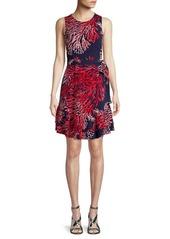MICHAEL Michael Kors Printed Ruffle Shift Dress