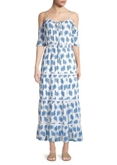 MICHAEL Michael Kors Printed Ruffle-Trimmed Maxi Dress