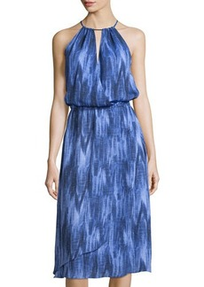 MICHAEL Michael Kors Printed Sleeveless Halter Dress
