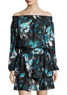 MICHAEL Michael Kors Printed Smocked-Waist Dress
