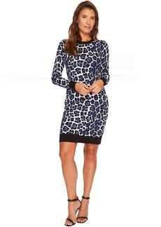 MICHAEL Michael Kors Printed Sweater Dress
