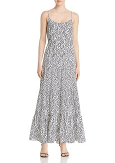 MICHAEL Michael Kors Printed Tiered Ruffle Maxi Dress