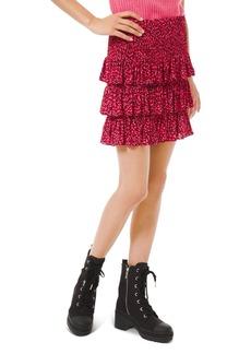 MICHAEL Michael Kors Printed Tiered Skirt