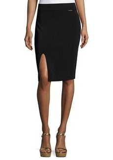 MICHAEL Michael Kors Pull-On Front-Slit Knit Pencil Skirt