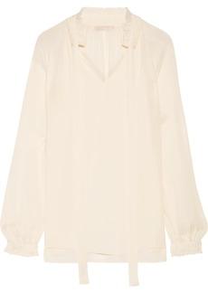 MICHAEL Michael Kors Pussy-bow silk-georgette blouse