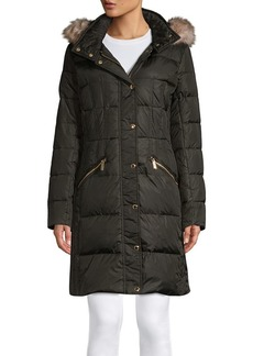 MICHAEL Michael Kors Quilted Faux Fur Puffer Jacket