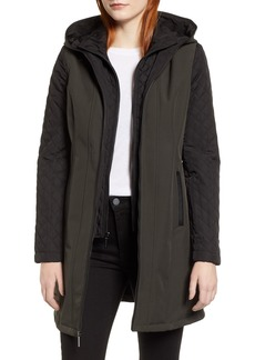 MICHAEL Michael Kors Quilted Sleeve Coat