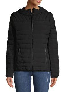 MICHAEL Michael Kors Quilted Zip Front Jacket