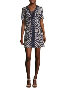 MICHAEL MICHAEL KORS Quincy Lace-Up Linen Dress