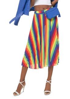 MICHAEL Michael Kors Rainbow Pleated Georgette Skirt