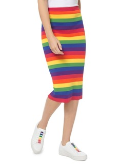 MICHAEL Michael Kors Rainbow Stretch Pencil Skirt