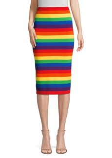MICHAEL Michael Kors Rainbow Stripe Pencil Skirt