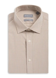 Michael Kors Regular-Fit Airsoft Cotton Check Dress Shirt