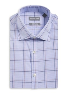 Michael Kors Regular-Fit Airsoft Cotton Plaid Dress Shirt