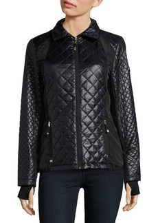 MICHAEL MICHAEL KORS Regular-Fit Quilted Flared Jacket