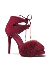 MICHAEL MICHAEL KORS Remi Suede and Rabbit Fur Pumps