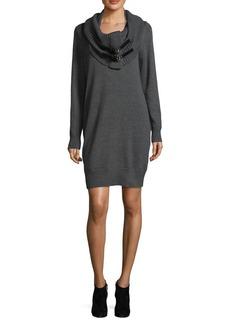 MICHAEL MICHAEL KORS Removable Cowlneck Sweater Dress