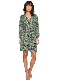 MICHAEL Michael Kors Reptile Lace-Up Long Sleeve Dress
