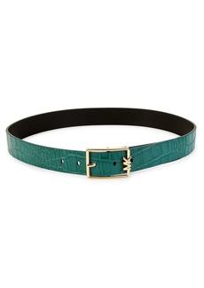 MICHAEL Michael Kors Reversible Textured Leather Belt