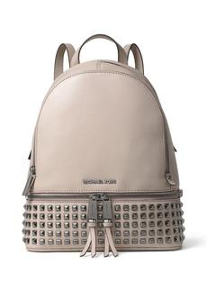 MICHAEL MICHAEL KORS Rhea Pyramid Stud Medium Venus Leather Backpack