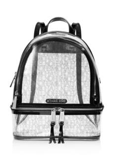 MICHAEL Michael Kors Rhea Zip Clear Backpack
