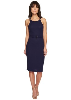 MICHAEL Michael Kors Rib Circle Trim Dress