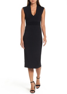 MICHAEL Michael Kors Rib Waist Knit Midi Dress