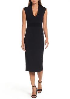 MICHAEL Michael Kors Rib Waist Knit Midi Dress