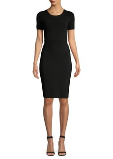 MICHAEL Michael Kors Rib-Waist Sheath Dress