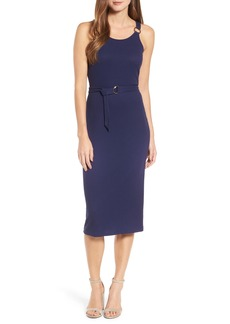 MICHAEL Michael Kors Ribbed Circle Trim Body-Con Dress