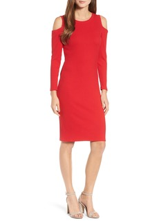 MICHAEL Michael Kors Ribbed Cold Shoulder Dress