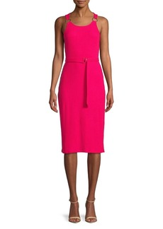 MICHAEL Michael Kors Ribbed Knee-Length Dress