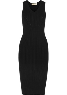 MICHAEL Michael Kors Ribbed-knit midi dress